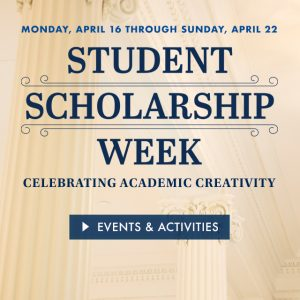Monmouth University's Third Annual Scholarship Week to Showcase  Students' Academic Accomplishments