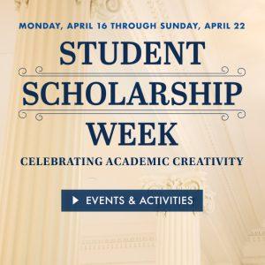 Monmouth University's Third Annual Scholarship Week to Showcase  Students' Academic Accomplishments