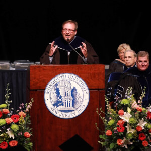 Distinguished Teacher Award Recipient Christopher S. DeRosa Addresses Monmouth University Graduates at Summer Commencement
