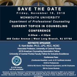 Current Topics in Counseling Conference Set for Nov. 16