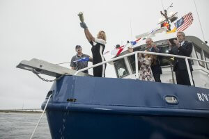 Monmouth University Christens Research Vessel as the Heidi Lynn Sculthorpe