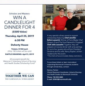 Scholars and Masters: Win a Candlelight Dinner for 4<br/>($500 Value)