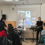 Professor Joe Rapolla Professor Discusses the Impact of Music and Monmouth Programs with Students at Liceo Cevolani, secondary school, in Cento, Italy