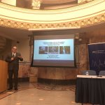 Photo of Dr. Abate giving presentation in Istanbul during book tour