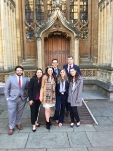 Monmouth Model UN Team Competes at Oxford University, Brings Home Individual Speaker Awards