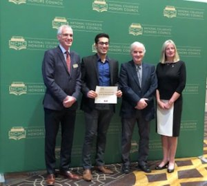 Senior Mehdi Husaini Places Second at National Collegiate Honors Council Research Conference