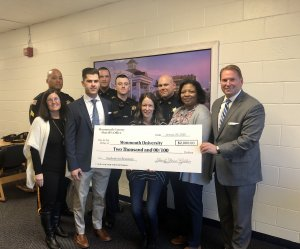 Sheriff's Office Awards Donation to Monmouth University's Students in Recovery Club