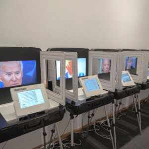 Richison Creates Polling Station Art Installation from Decommissioned Voting Booths
