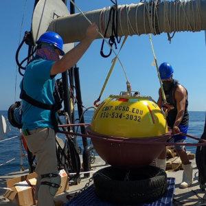 Jersey Shore Wave-Monitoring Buoy Deployed from R/V Heidi Lynn Sculthorpe