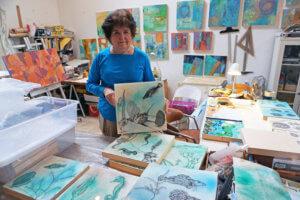 Professor Cresson showcases marine art