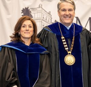 Board Chair Piscatelli and President Leahy at Installation