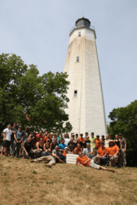 2016 field school at Sandy Hook lighthouse