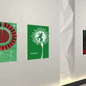 Jing Zhou's poster exhibited in the Ban Ki-moon Centre Virtual Exhibition about Global Citizenship