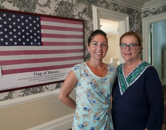 Melissa Ziobro, Monmouth University History Professor and Linda Bricker, Monmouth County Historical Association President at the Taylor-Butler House. Images of some of the exhibits that are part of a two month long 9/11 exhibit being held by the Monmouth County Historical Association at the Taylor-Butler House in Middletown.