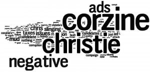 Image Shows Word Cloud from Voters Concerning Campaign Ads