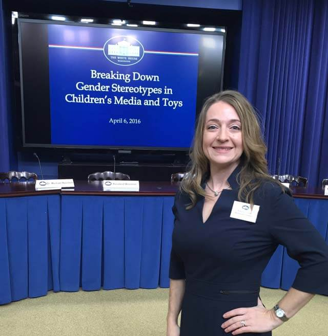 Dr. Lisa M. Dinella preparing to present at The White House