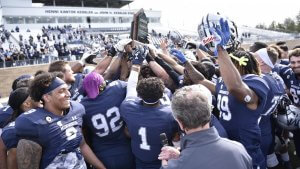 Monmouth University's football program finished the season ranked 10th in two of the three end-of-season polls and had the distiMonmouth Football finishes as top-ranked private school