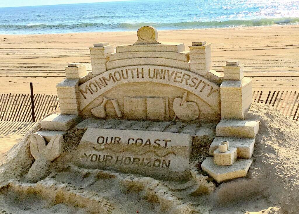 Photo of sand sculpture commissioned for Fourth of July celebrations in Long Branch.