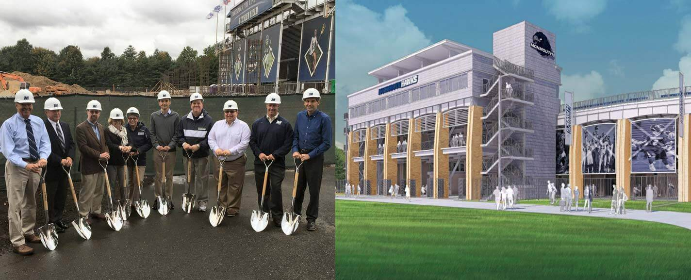 Preparations for the new stadium at Monmouth University