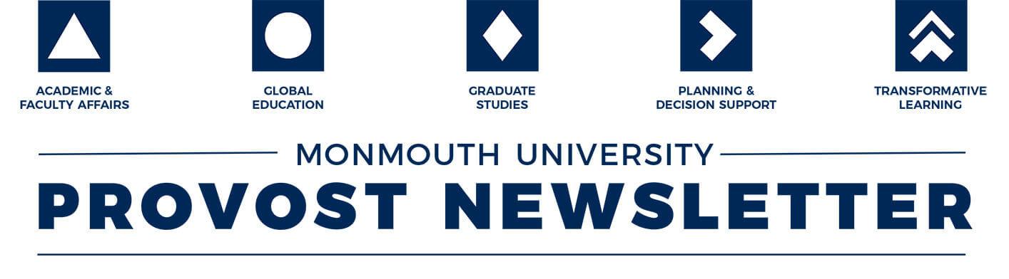 Monmouth University Provost Newsletter header