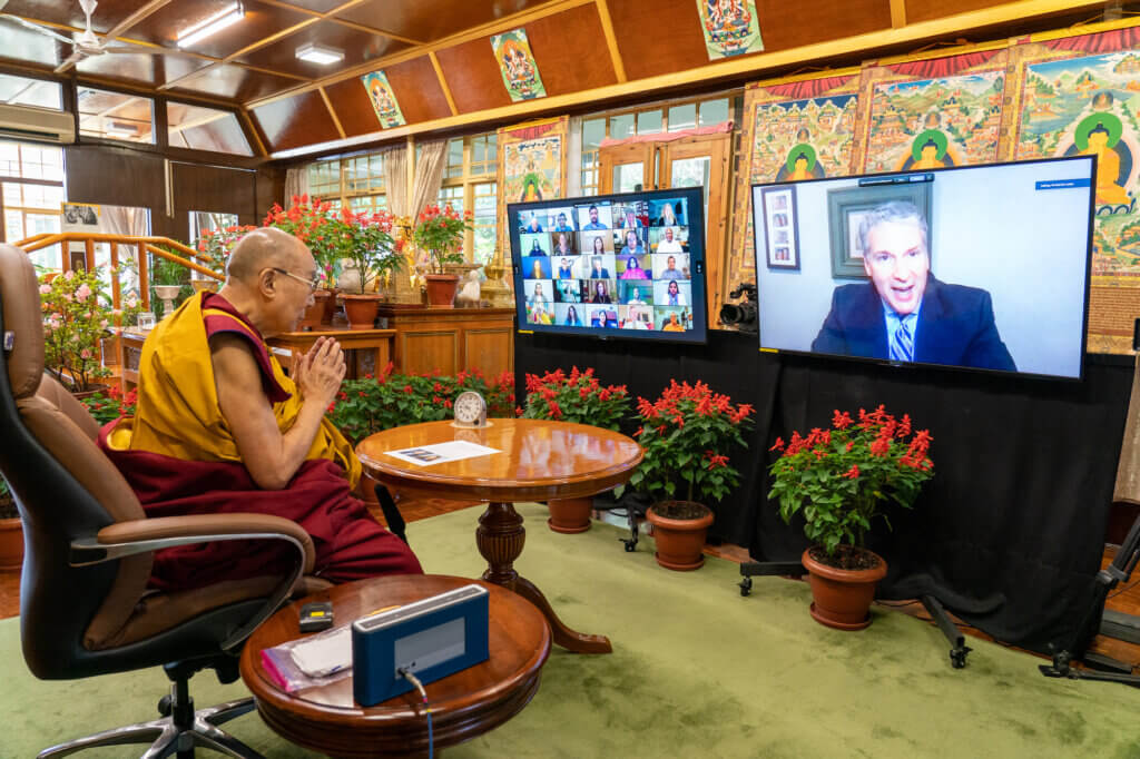 Dalai Lama Livestream Event Photo 3 - click or tap for larger view