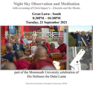 Photo image of event flyer for Night Sky Observation and Mediation - click or tap to download flyer