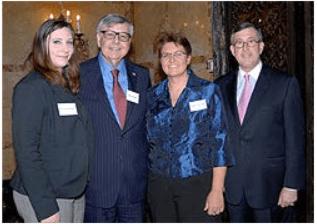 Photo shows from left: Annmarie DeRosa, William Roberts, Anne Marie Tarnowski, and Paul G. Gaffney II.