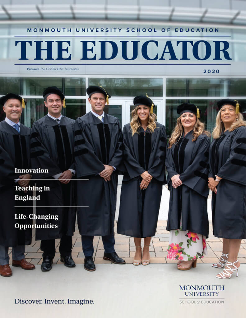 Photo of front cover of the 2020 issue of The Educator magazine at Monmouth University