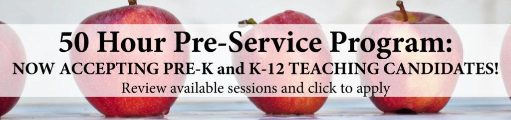 Banner image for 50 Hour Pre-Service Program