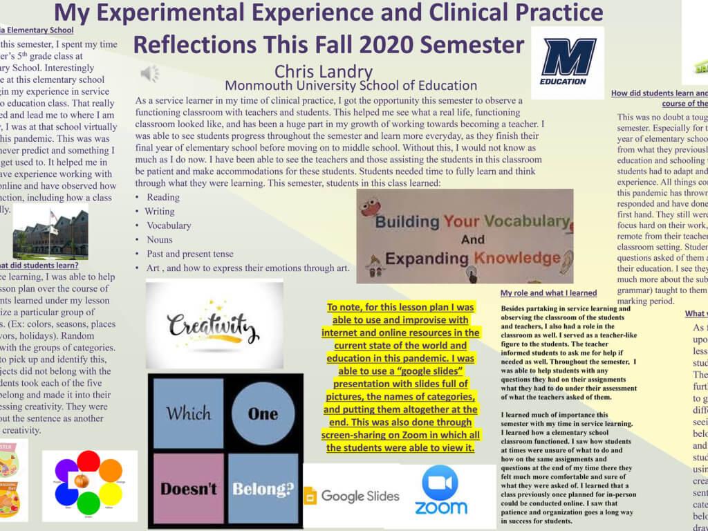 Screenshot photo of presentation by Christopher Landry