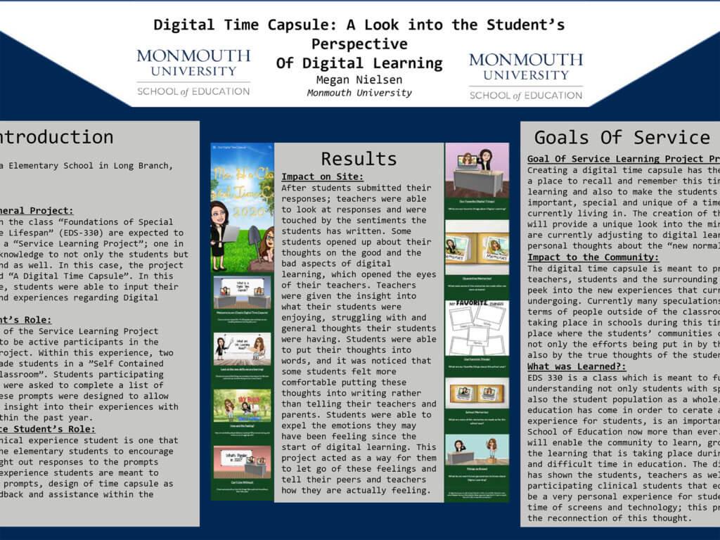 Screenshot photo of presentation by Megan Nielsen