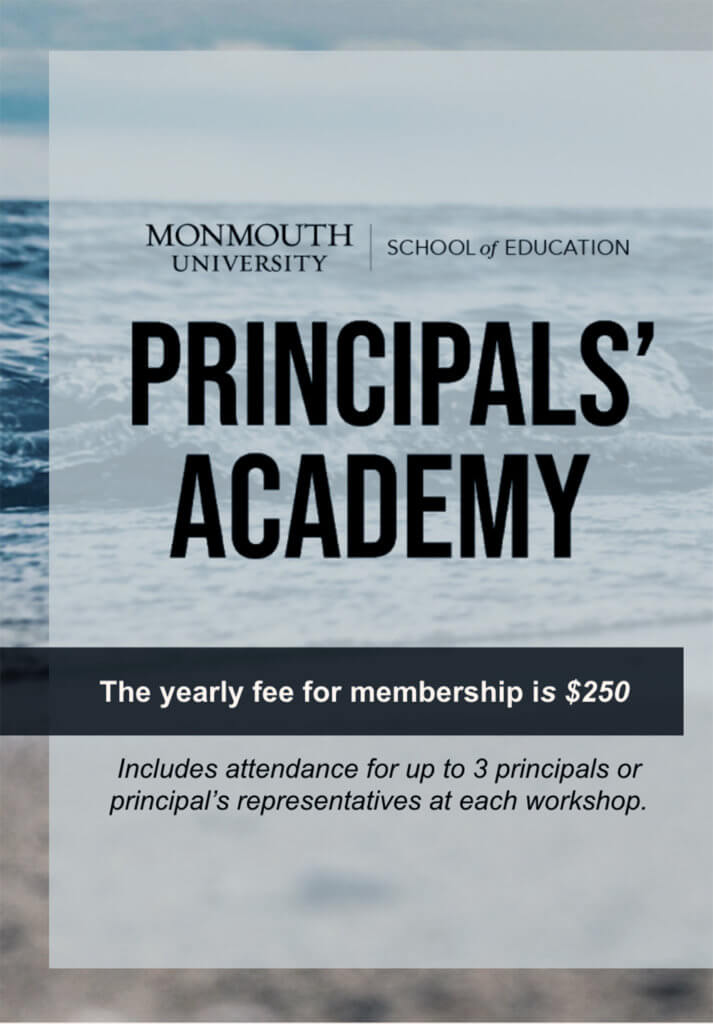 Photo image of Principals Academy 2021-22 flyer: click or tap to register for membership online