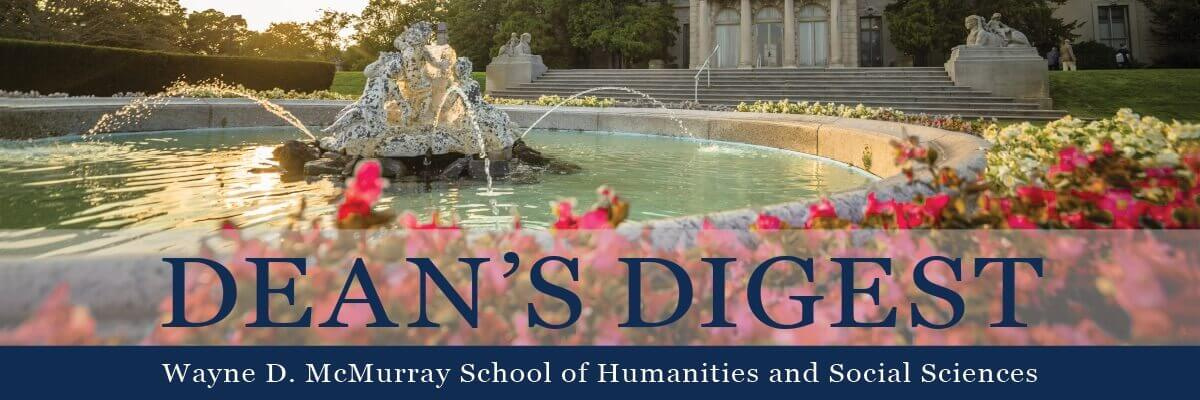 banner image for the dean's digest newsletter