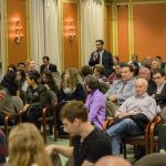 Click to View 5th Annual School of Science Deans' Seminar Photo of Dharm Patel '12 asks a question