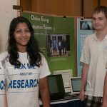Click to View 2013 Summer Research Symposium Photo of Yajie Shao, Tejal Deshpande, Alex Kristensen, Conor McCarthy