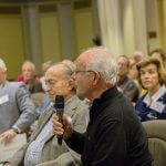 Click to View 5th Annual School of Science Deans' Seminar Photo of Audience member during Q & A session