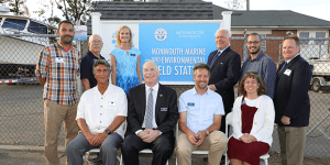 Click to View Monmouth Marine and Environmental Field Station Ceremony Photo 5