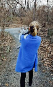 Photo of Patrycja with her cat Deli