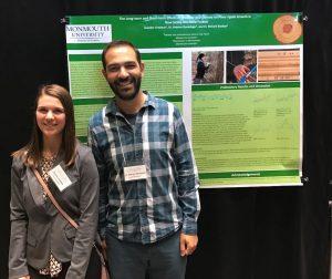 Photo of Pedram Daneshgar with student Jennifer Urmston
