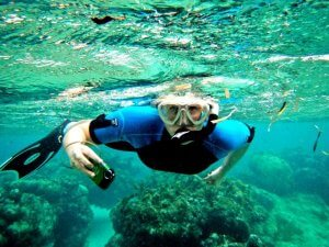Photo of MU Alum Josette Hutcheson snorkeling