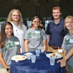 Photo of students Samantha Cavalli, Hunter Hostage, Lois Walton, Sarah Gillogly (Daneshgar Lab), Charlie Vasas (Dunton Lab)