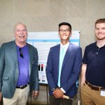 Photo of Dean Bachrach with students Michael Ngyuen and Charlie Vasas (Dunton Lab)