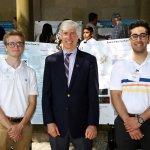 Photo of Paul Haines, Dr. John Henning and Medhi Husaini