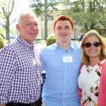 Photo of UCI Director Tony MacDonald with John Meyer and Doris Meyer