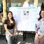 Photo of students Noelle Kubinak and Nadine Khalil of the Kubera Lab