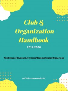 Cover Image of 2019-2020 Club and Organization Handbook - Click to go to first page