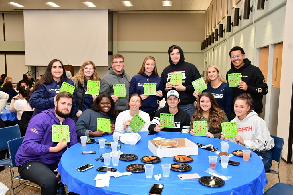 Group photo from Bingo Nite at Family Weekend