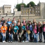 Photo of MU student group in London England - Click to view larger image