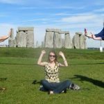 Photo of MU student at Stonehenge in England - Click to view larger image