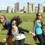 Photo of MU students at Stonehenge in England - Click to view larger image